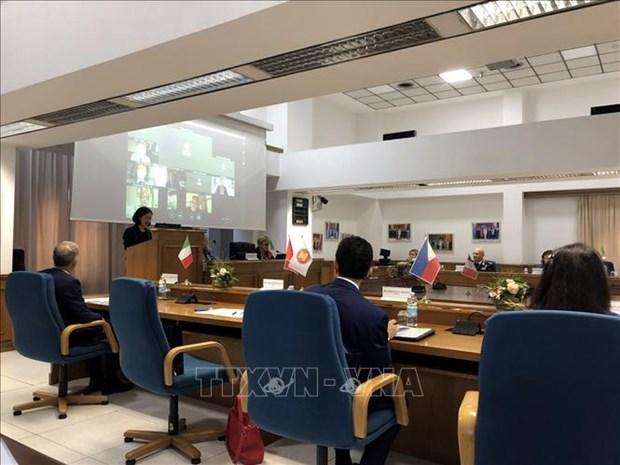 Forces de l'ordre: Renforcement du partenariat entre l'ASEAN et l'Italie hinh anh 1