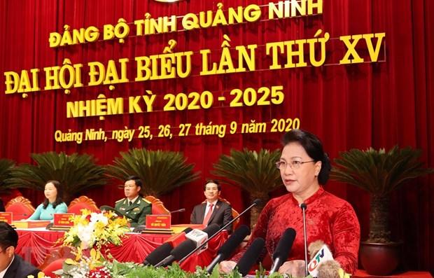 La presidente de l'AN exhorte Quang Ninh a optimiser son potentiel hinh anh 1