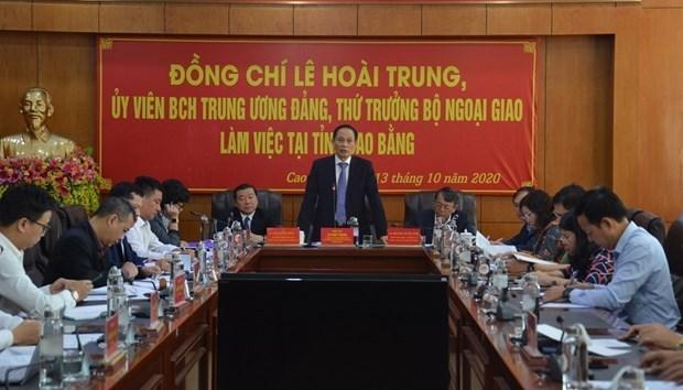 Cao Bang renforce ses relations exterieures avec la Chine hinh anh 1