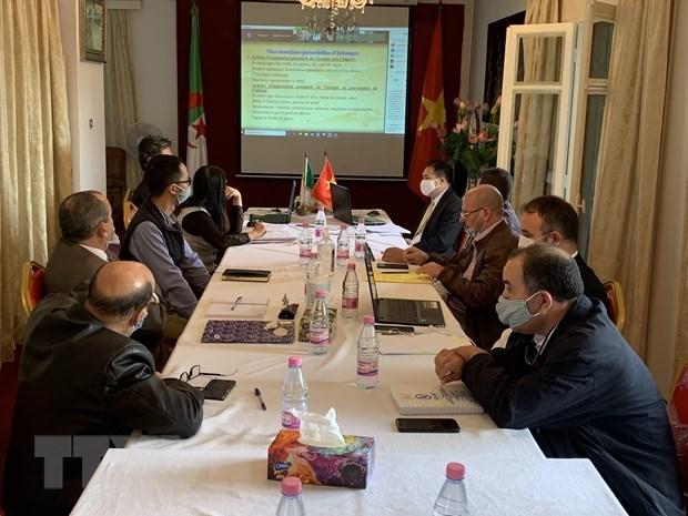 Plus de 70 entreprises a un webinaire economique Vietnam-Algerie hinh anh 1