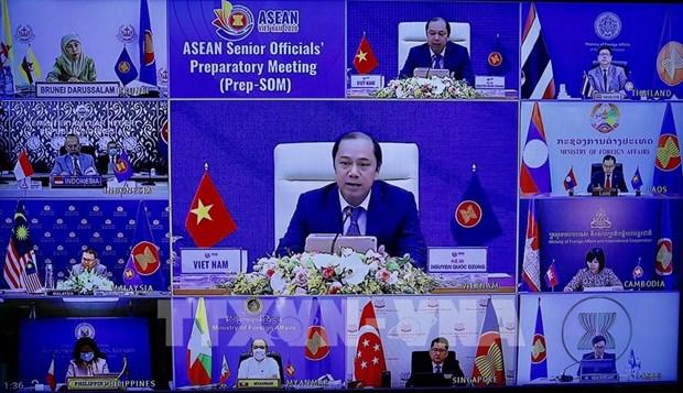 ASEAN 2020: reunion preparatoire des hauts officiels de l'ASEAN hinh anh 1