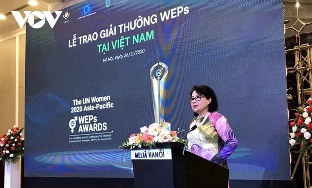 Neuf entreprises vietnamiennes recoivent les prix des Principes d'Autonomisation des Femmes hinh anh 1