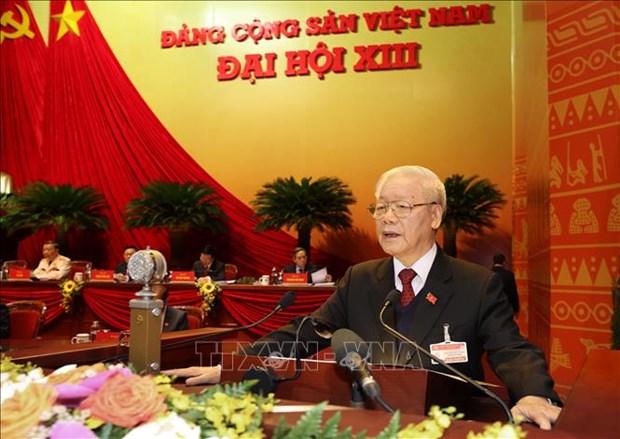 La ceremonie d'ouverture du 13e Congres national du Parti couverte par des medias etrangers hinh anh 1