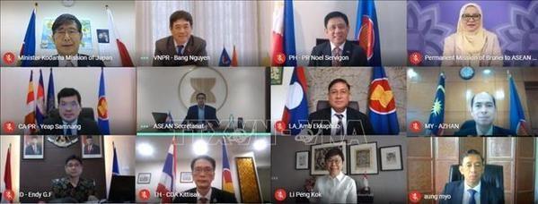 Le Vietnam copreside la 15e reunion du Comite mixte de cooperation ASEAN-Japon hinh anh 1