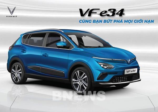 VinFast commence a vendre son premier modele de voiture electrique VF e34 hinh anh 1