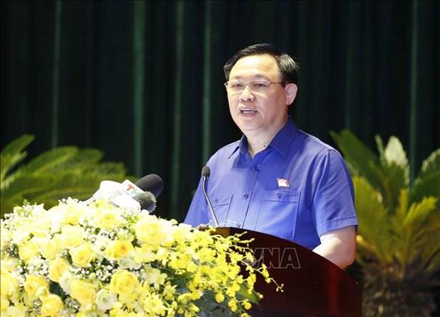 Elections legislatives: le president de l'AN rencontre des electeurs de Hai Phong hinh anh 1