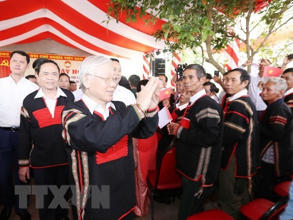 Nguyen Phu Trong a la Fete de la grande union nationale a Dak Lak hinh anh 1