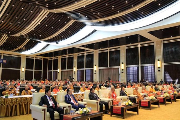 La premiere conference du leadership bouddhiste Vietnam-Laos-Cambodge hinh anh 1