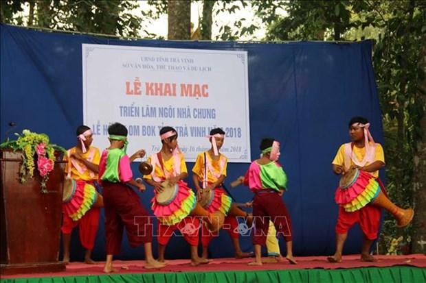 Les Khmers de la province de Tra Vinh celebrent la fete Ok Om Bok hinh anh 1