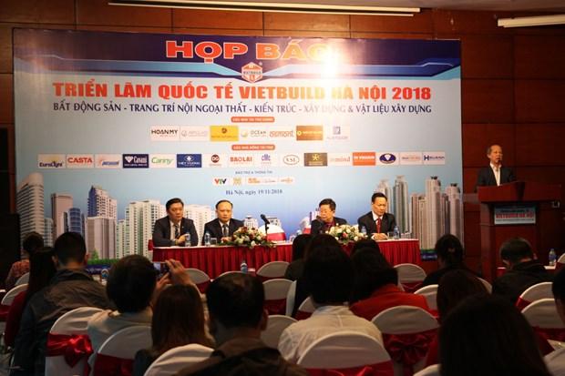 La 3e edition du salon VietBuild Hanoi 2018 comprend pres de 1.500 stands hinh anh 1