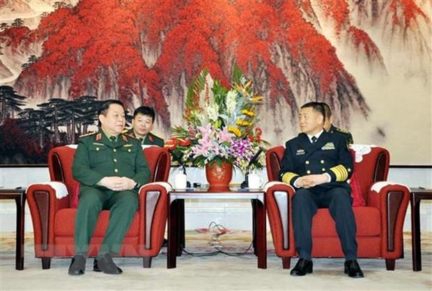 Vietnam-Chine : renforcement de la cooperation entre les deux armees hinh anh 1