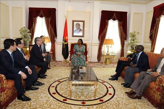Une delegation du Parti en visite de travail en Angola hinh anh 1