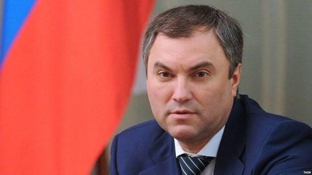 Le president de la Douma d'Etat de Russie entame sa visite officielle au Vietnam hinh anh 1