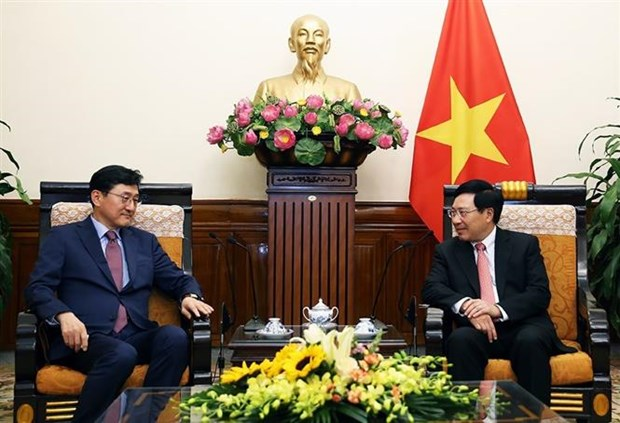 Le vice-PM Pham Binh Minh recoit le vice-ministre sud-coreen des AE hinh anh 1