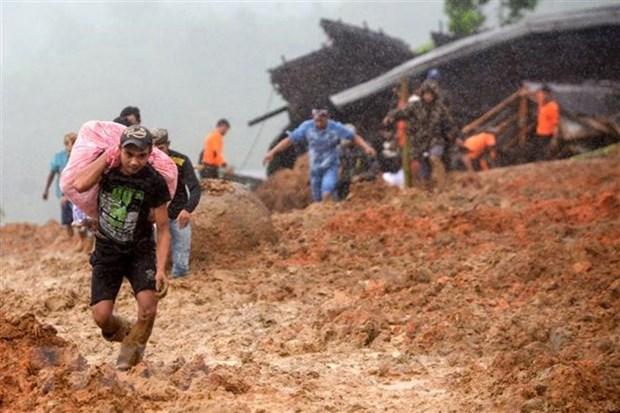 Glissements de terrain en Indonesie et aux Philippines: le bilan s'alourdit hinh anh 1