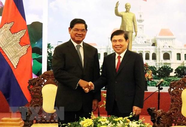 HCM-Ville veut renforcer la cooperation avec des localites cambodgiennes hinh anh 1