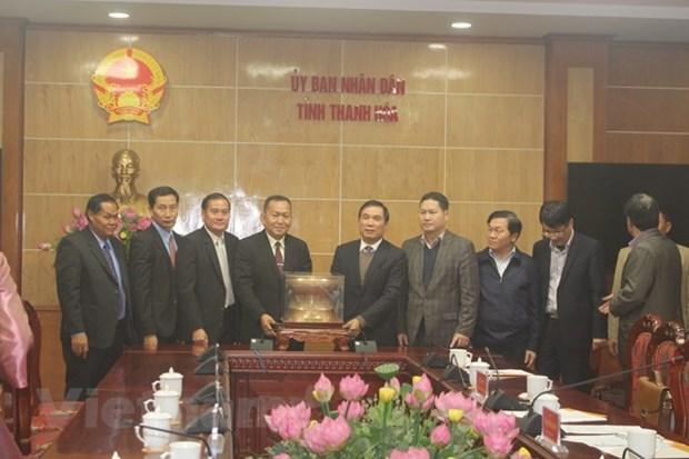 La delegation de l'Agence de presse laotienne se rend dans la province de Thanh Hoa hinh anh 1