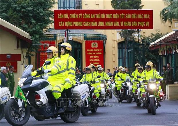 Sommet Etats-Unis-RPDC : la Police de Hanoi deploie le plan de protection hinh anh 1