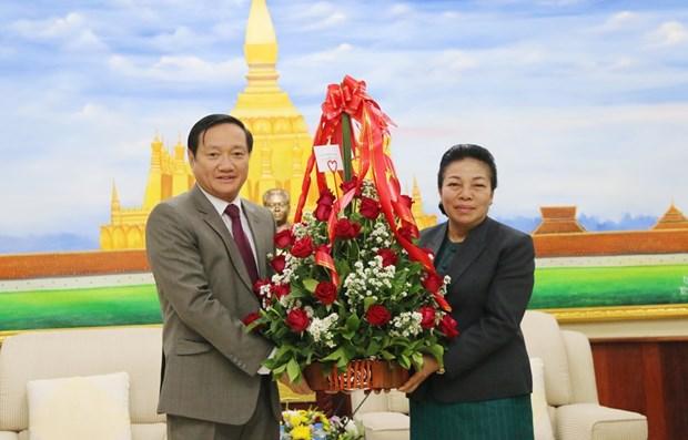 Felicitations au Parti populaire revolutionnaire du Laos hinh anh 1