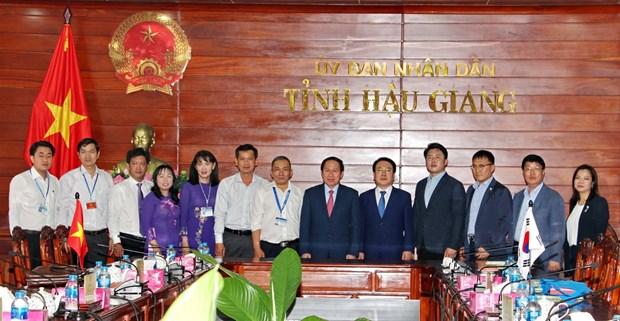 Hau Giang cherche a renforcer sa cooperation avec la province sud-coreenne de Jeollanam-do hinh anh 1