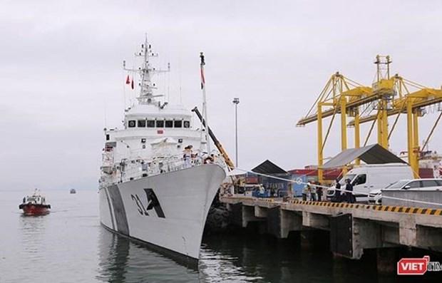 Le navire ICGS VIJT des Garde-cotes indiens a Da Nang hinh anh 1