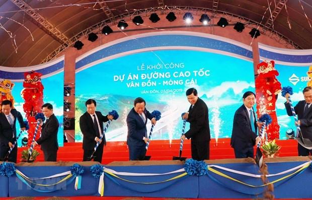 Mis en chantier de l'autoroute Van Don-Mong Cai hinh anh 1