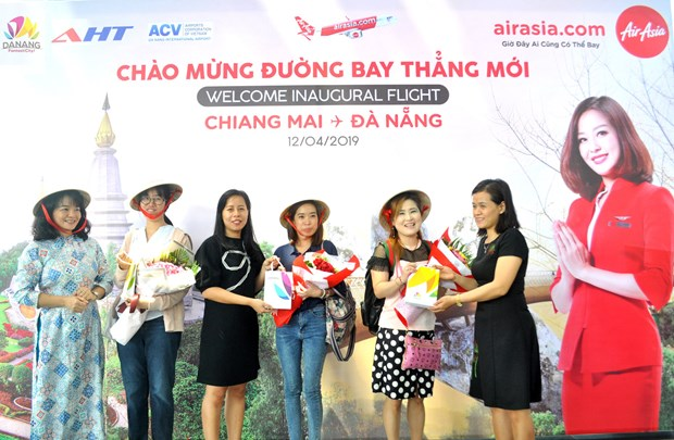 AirAsia : le premier vol direct Da Nang et Chiang Mai hinh anh 1