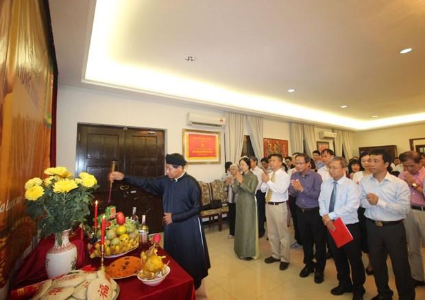 Offrande d'encens aux rois fondateurs Hung en Malaisie hinh anh 1