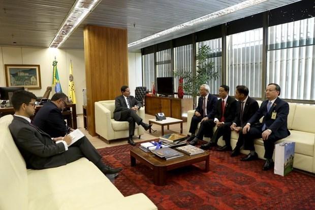 Le vice-president bresilien recoit le vice-president de l'AN Uong Chu Luu hinh anh 1