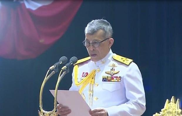 Le roi thailandais preside la premiere reunion du nouveau Parlement hinh anh 1