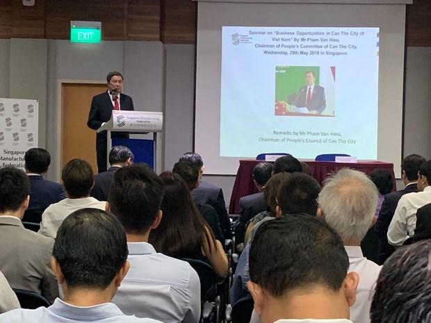Can Tho appelle les entreprises singapouriennes a investir dans les secteurs phares hinh anh 1