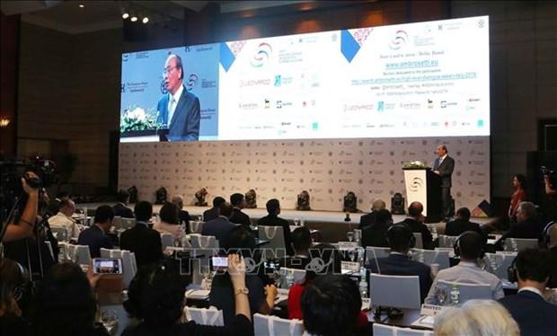 Les PM vietnamien et italien copresident le Forum d'entreprises Italie-ASEAN hinh anh 1