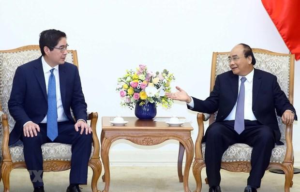 Le PM Nguyen Xuan Phuc recoit le directeur general du groupe philippin JG hinh anh 1