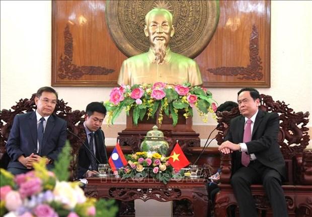 Le president du FPV recoit la delegation du Front d'edification nationale du Laos hinh anh 1