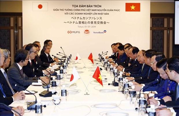 Le PM Nguyen Xuan Phuc rencontre les dirigeants de grandes entreprises japonaises hinh anh 1