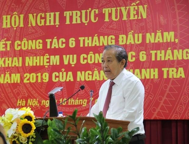 Inspection gouvernementale: mettre en œuvre des solutions pour prevenir la corruption hinh anh 1