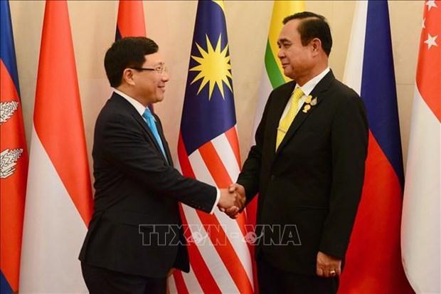 Les ministres des Affaires etrangeres de l'ASEAN vont saluer le PM thailandais hinh anh 1