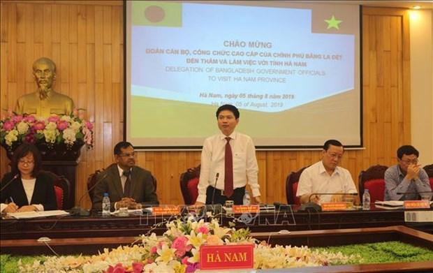 Le Bangladesh etudie les experiences de Ha Nam dans la gestion administrative hinh anh 1