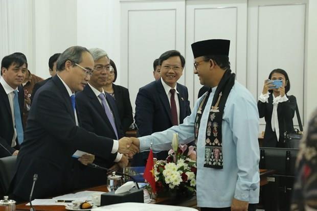 Ho Chi Minh-Ville cherche a renforcer la cooperation integrale avec des partenaires indonesiens hinh anh 1