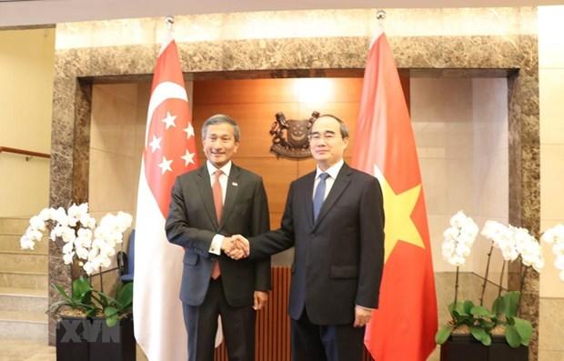 Ho Chi Minh-Ville accelere la cooperation integrale avec Singapour hinh anh 1