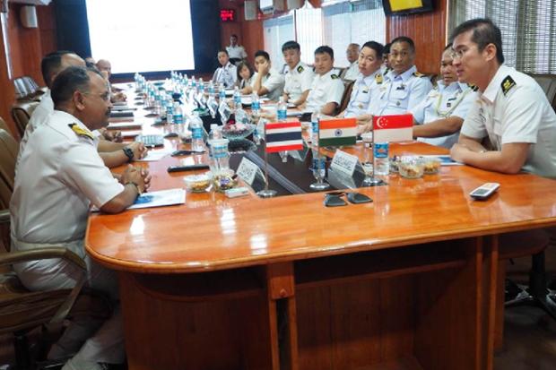L'Inde, la Thailande et Singapour lancent leur premier exercice maritime hinh anh 1