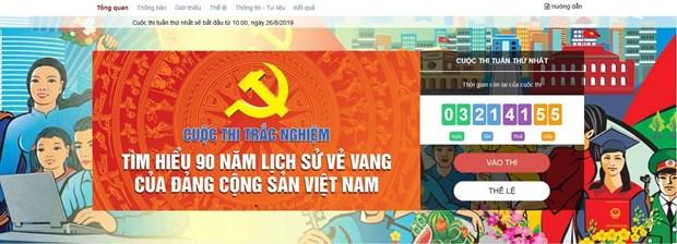 Pres de 247.300 personnes participent a l'etude des 90 ans d'histoire du Parti hinh anh 1