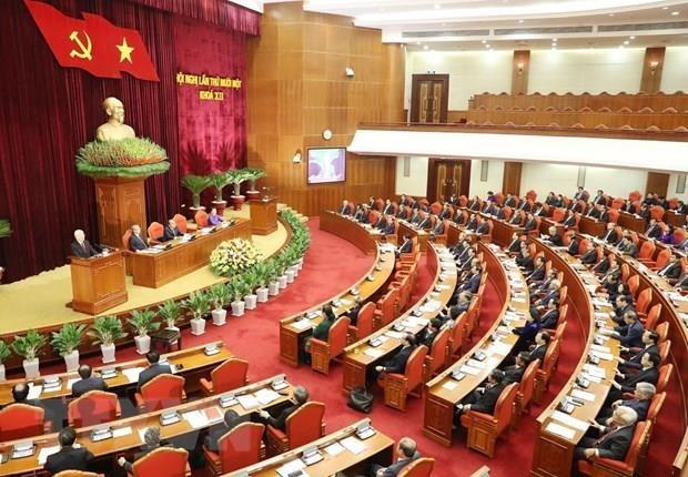 Troisieme journee de travail du 11e Plenum du Comite central du Parti (XIIe mandat) hinh anh 1