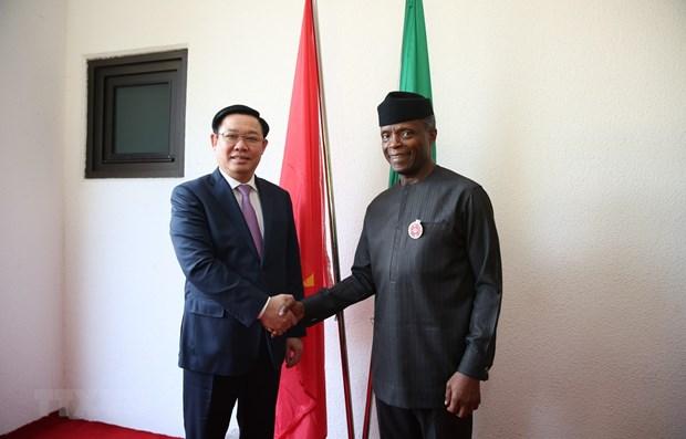 Entretien entre le vice-Premier ministre Vuong Dinh Hue et le vice-president nigerian hinh anh 1