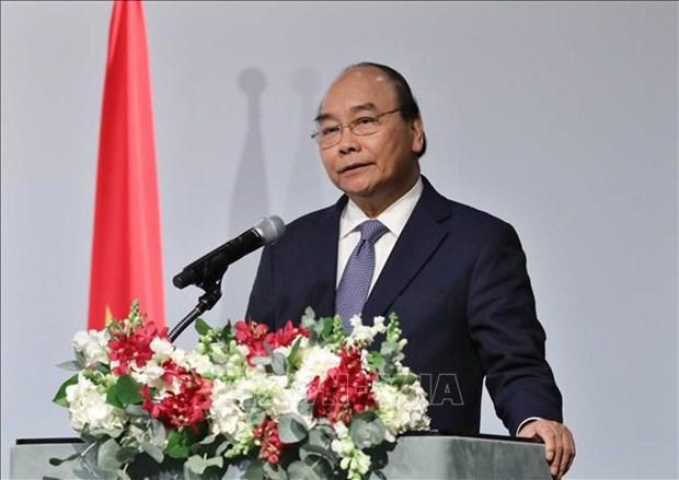 Le PM Nguyen Xuan Phuc present a un forum d'affaires Vietnam - Republique de Coree hinh anh 1