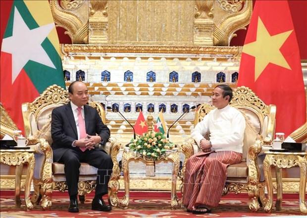 Entrevue entre le Premier ministre vietnamien et le president birman hinh anh 1