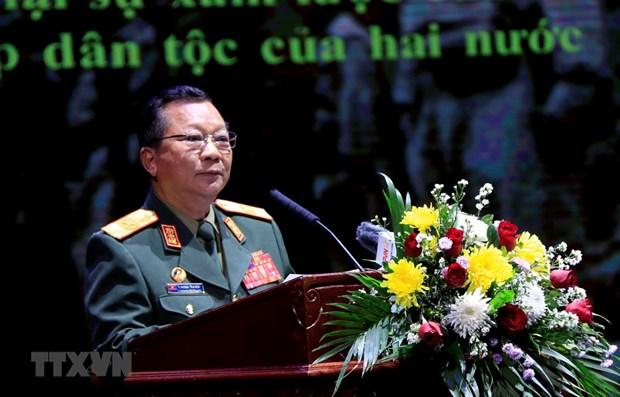 La Journee des soldats volontaires vietnamiens au Laos celebree a Vientiane hinh anh 1