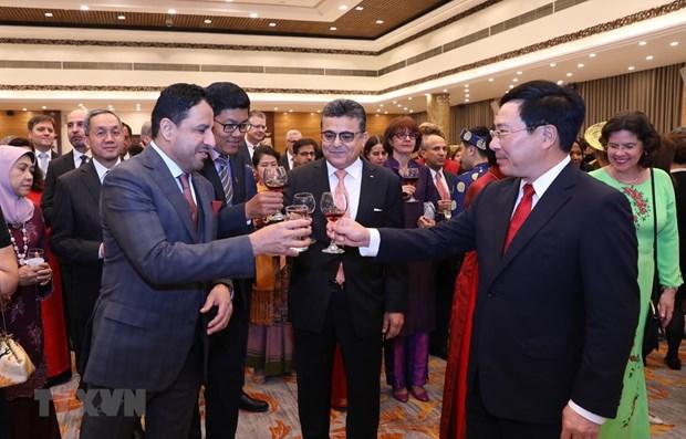 Tet traditionnel : rencontre avec le corps diplomatique a Hanoi hinh anh 1
