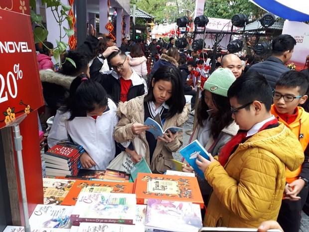 Ouverture de la Rue des livres du printemps de l'Annee du Rat a Hanoi hinh anh 1