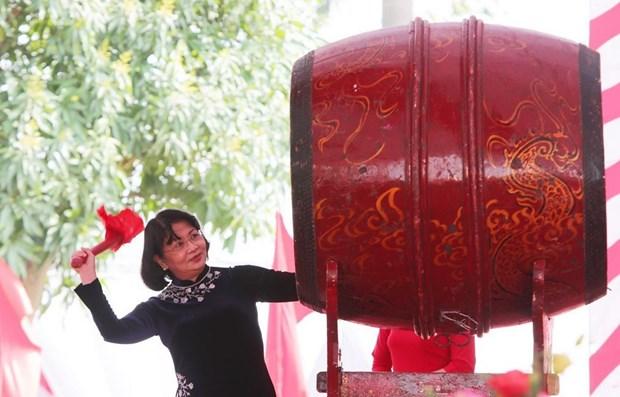 Celebration du 1980e anniversaire de l'insurrection des deux Sœurs Trung a Hanoi hinh anh 1